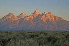Teton sunrise Stock Photos