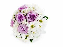 Colorful flower wedding bouquet for bride arrangement centerpiece vase isolat Stock Photos