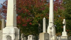 Gravestones and Monuments Stock Footage