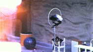 MONKEY SHOW ACT Chimp JUMPS HOOP Trainer 1960s (Vintage Film Home Movie) 5399 Stock Footage