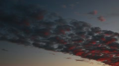 Dramatic Cloudscape Sunset PanR Stock Footage