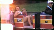 Stock Video Footage of TINY TRAIN Amusement Park Ride 1970s (Vintage 8mm Film Home Movie) 5402