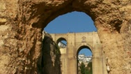 Stock Video Footage of Ronda, Spain. Puento Nuevo