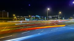 Rush-hour Traffic in city time lapse night - stock footage