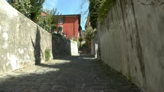 Tuscany old street Stock Footage