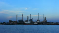 Coastal oil refinery Stock Footage