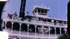 River Boat DISNEYLAND AMUSEMENT Park 1960s (Vintage Film Home Movie) 5411 Stock Footage