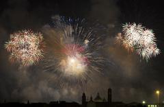 Firework celebration Redentore (Venice, Italy) - stock photo