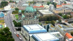 Beautiful day view of Berlin Cathedral (Berliner Dom) Stock Footage
