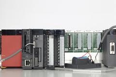 PLC automation - stock photo