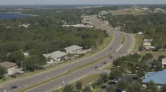 Highway from above Stock Footage