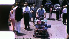 Crowd DISNEYLAND AMUSEMENT Theme Park 1960s (Vintage Film Home Movie) 5414 Stock Footage