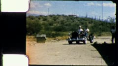 Men Ride Drive DUNE BUGGY Car Desert 1960s Vintage 8mm Film Home Movie 5416 Stock Footage