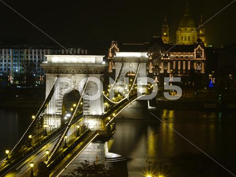 Stock photo of chain bridge of budapest