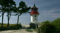 Old Lighthouse on Hiddensee Island - Baltic Sea, Germany Stock Footage