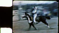 RODEO GIRL RACING Horse Riding 1950s Vintage Film Home Movie Footage 5418 Stock Footage