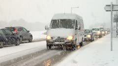 Snow congestion Stock Footage