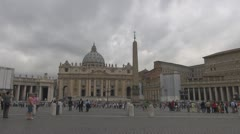 Vatican, Saint Peter Square Rome, Italy Stock Footage