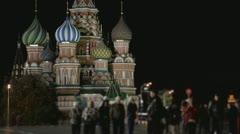 Night kremlin sequence Stock Footage