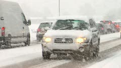 Winter commute Stock Footage
