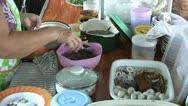 Asian Woman Prepares Noodle Soup Stock Footage