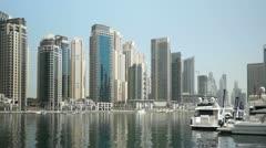 Dubai Marina Stock Footage
