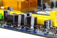 hi-tech closeup - stock photo
