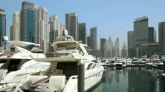 Beautyful Architecture in Dubai Marina Stock Footage