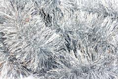 photo of shiny tinsel background. - stock photo