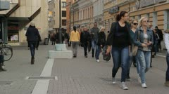 City centar of Banja Luka, Bosnia and Herzegovina Stock Footage