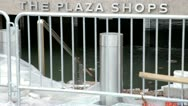 Stock Video Footage of Flooded nyc plaza shops Hurricane Sandy