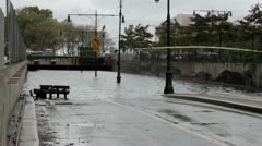 NYC Hurricane Sandy Manhattan Flooded tunnel 3 Stock Footage