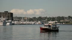 Lake Union Boat 02 Stock Footage