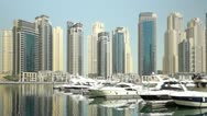 Stock Video Footage of beautyful Architecture in Dubai Marina