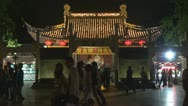 Tourist visit Nanjing Confucius Temple (Fuzimiao) by night,China Stock Footage