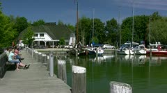 Little Harbour on Darss Peninsula - Baltic Sea, Northern Germany Stock Footage