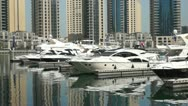 Stock Video Footage of Dubai Marina Architecture