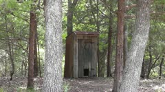 Outhouse in the Woods I Stock Footage