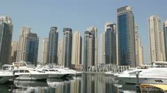 Dubai Marina Architecture Stock Footage
