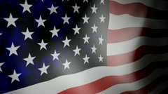 Flag of U.S.A with noise Stock Footage