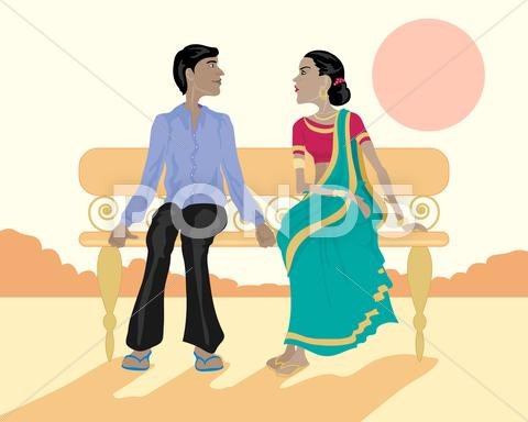 Stock Illustration of asian couple