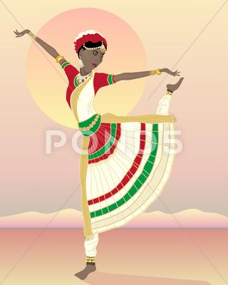 Stock Illustration of asian dancer