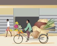 Stock Illustration of cycle rickshaw