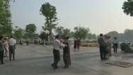 Chinese couples dancing in park, Ninjing, China Stock Footage