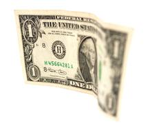 Stock Photo of one dollar macro