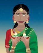 happy diwali - stock illustration