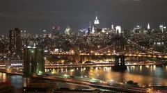 Brooklyn Bridge Manhattan Timelapse Stock Footage