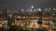 Stock Video Footage of Brooklyn Bridge Manhattan Timelapse
