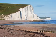 Stock Photo of seven sisters cliffs south downs england landscape