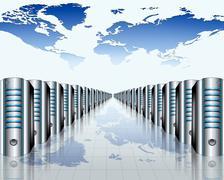 Modern server room Stock Illustration